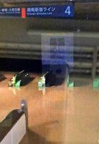 水没した13日未明時点のJR横須賀線武蔵小杉駅の新南改札。15日始発から使用できるようになった=川崎市中原区