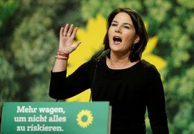 ドイツ「緑の党」のアンナレーナ・ベーアボック氏=2019年11月(ロイター=共同)