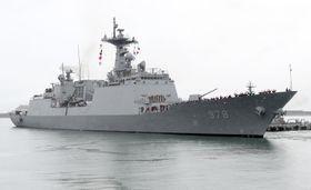 中東・ホルムズ海峡への派遣が決まった韓国軍の駆逐艦(聯合=共同)