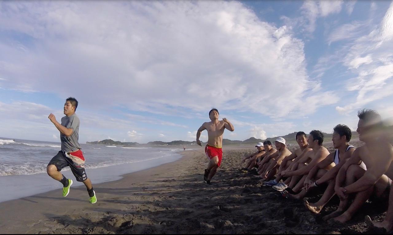 「渚キャンプ」では、ユニークな練習メニューが用意されている