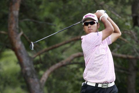米男子ゴルフ、松山は暫定4位