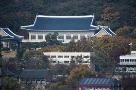 韓国大統領府=21日、ソウル(共同)