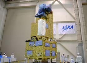 本年度の打ち上げが予定される温室効果ガス観測技術衛星「いぶき2号」=11日午後、茨城県つくば市