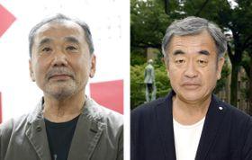 村上春樹さん(左)、隈研吾さん