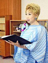 肝炎検査の受診を呼び掛ける杉さんのメッセージを代読する瀬川さん