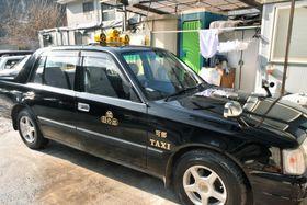 高橋豪容疑者が事件直後に乗車したタクシー=16日、広島市安佐北区