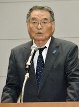 「拉致問題の早期解決を願う国民のつどい」に出席した松本孟さん=20日午後、鳥取県米子市