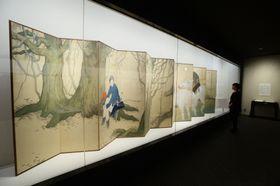 橋本関雪の「木蘭」=京都市の白沙村荘橋本関雪記念館