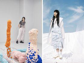 2019 SS(左)PHOTO: Tetsuya Maehara SCULPTURE: Maito Otake 2018 SS(右)PHOTO: Tsukasa Kudo