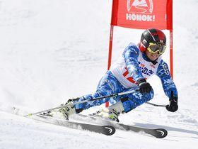 昨年の大会で5連覇を果たした池田晃選手=高山市丹生川町久手、ほおのき平スキー場