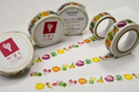 貼って剥がして、カラフルなイタリア野菜 河北・文房具店がマスキングテープ販売