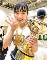 関東大学女子バスケットボール新人戦で東京医療保健大の4連覇に貢献した北九州市出身の木村亜美