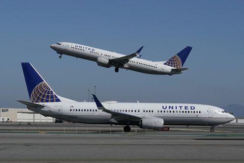 米ユナイテッド航空の飛行機=2020年10月、サンフランシスコ(AP=共同)