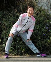 MGC出場権を獲得し、注目度が高まっている中野円花。地元のトラックレースでも活躍を誓う=神戸市垂水区内