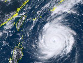 25日午後0時50分の台風24号(ひまわり8号リアルタイムwebから)