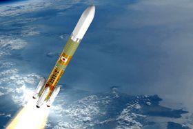 次世代ロケット「H3」の想像図(JAXA、三菱重工業提供)