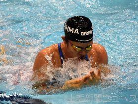 成年女子100メートル平泳ぎ 7位入賞した大和田=山新スイミングアリーナ