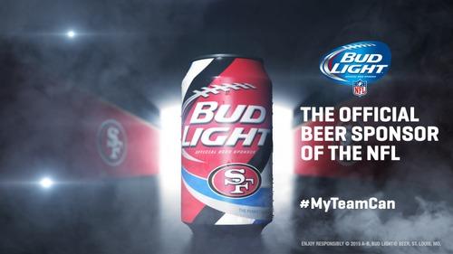 NFLの公式ビールスポンサーのバド・ライト