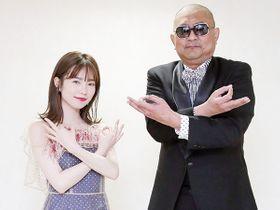 親子役で共演を果たした埼玉出身(写真左から)島崎遥香さん、ブラザートムさん。話題の「埼玉ポーズ」で映画への思いを語った