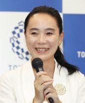 2020年東京五輪・パラリンピックの大会公式映画の監督に決まり、記者会見する河瀬直美さん=23日午後、東京都港区
