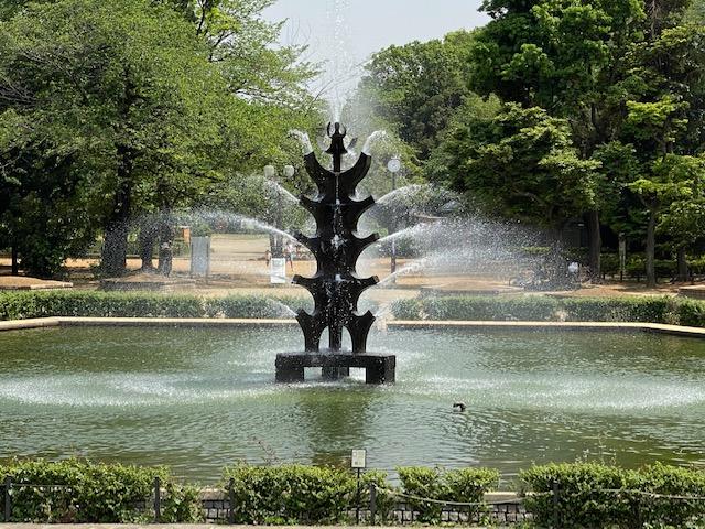 夏場は多くの人でにぎわう世田谷公園
