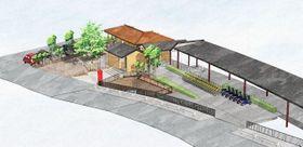 極楽寺駅のリニューアルイメージ図。施工段階で変更の場合あり(江ノ島電鉄提供)