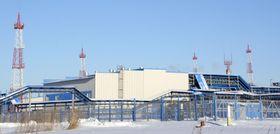 ロシア極東アムール州・スバボードヌイにあるガスプロムの施設=11月29日(共同)
