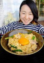 丹波の地鶏と卵を堪能できる親子丼=丹波いっぷく茶屋
