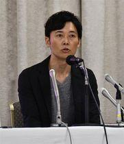 県内初のプロ野球チーム設立への思いを語る神田康範社長