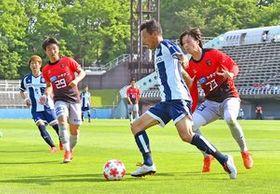 攻撃陣の柱として活躍が期待される栃木シティのFW藤田=11日のNEZASカップ決勝から