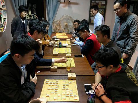 将棋普及を志す上海人グループ