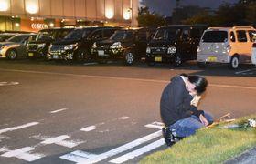 看護師の内山茉由子さんが車ごと拉致された浜松市内の駐車場=6月