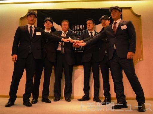 BCリーグ 新戦力4人 活躍誓う 高崎でペガサス入団会見
