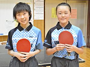 日本代表チャレンジ『卓球少女』 選考会へ宗像さんと山内さん