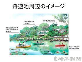「大宮公園グランドデザイン」における舟遊池周辺のイメージ図(県公園スタジアム課提供)