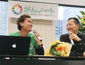 体験を語り合う岸田徹さん(左)と兄の剛さん