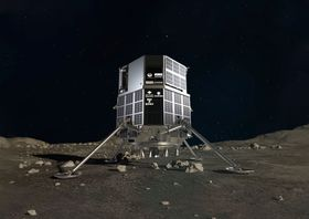 「ispace(アイスペース)」が2022年に月面に送る探査機の想像図(同社提供)