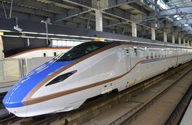 開業4周年となった北陸新幹線=14日、JR金沢駅