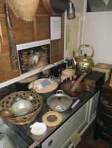 再現した北條家の台所=東京都大田区の昭和のくらし博物館