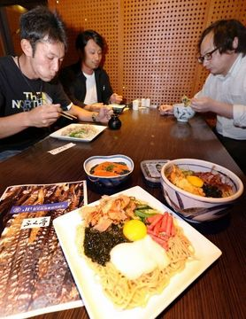 トロロコンブでそばと丼物開発 釧路・ふく亭