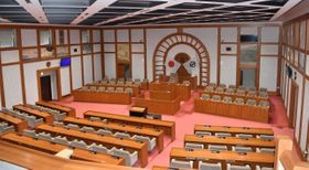 倉敷市議会の議場