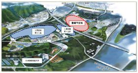 延岡市が整備方針を示した新たな産業団地の立地イメージ図