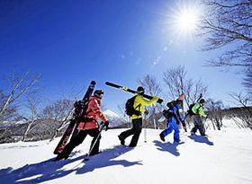 雪上徒歩ルートのイメージ