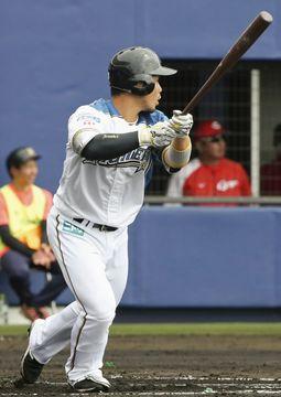 日本ハムの近藤、全打席出塁