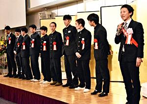 全国男子駅伝連覇へ決意、優勝祝賀会 相沢「来年もVサイン」