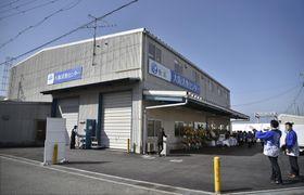 完成した大阪活魚センター=12日午後、大阪府泉佐野市