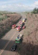 浦幌町内の道東道で発生した、バスなど複数の車両がからむ追突事故