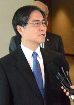 国際司法裁判所裁判官に当選後、取材に応じる岩沢雄司氏=22日、ニューヨークの国連本部(共同)