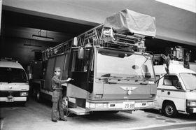 長崎市中央消防署に配備されたはしご付き消防自動車