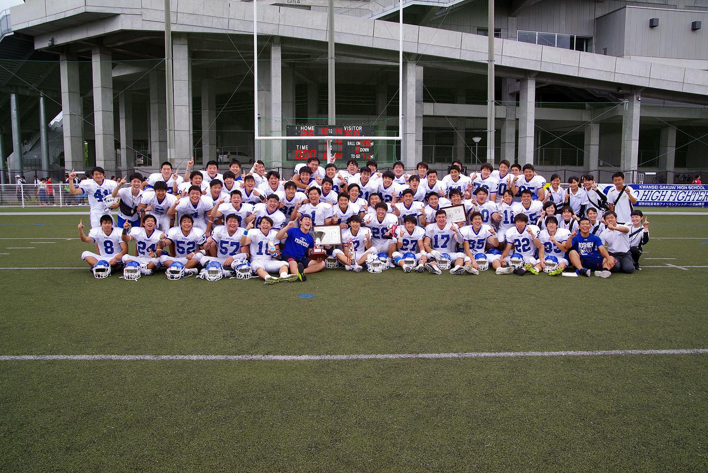 優勝した関西学院の選手、スタッフ=撮影:Gyasan